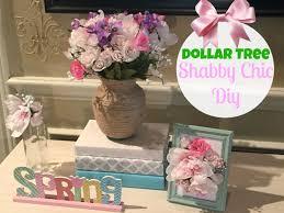dollar tree diy shabby chic decor youtube