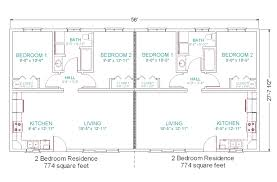 simple small house floor plans modular duplex tlc also triplex one
