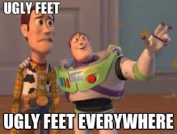 Ugly Feet Meme - running feet majella boland the non professional runner athlete