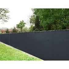 aleko 4 u0027 x 50 u0027 black fence privacy screen outdoor backyard fencing