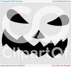 pumpkin no background clipart of a black and white jackolantern pumpkin face royalty