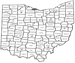Ohio State County Map by Assessment Of Winter Injury In Grape Cultivars And Pruning