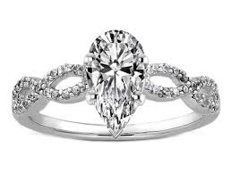 infinity engagement rings engagement ring pear shape diamond infinity engagement ring in