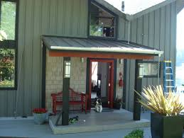 metal roof back porch home design ideas