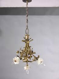 Art Nouveau Chandelier Genuine Antique Lighting 4 Light French Art Nouveau Chandelier