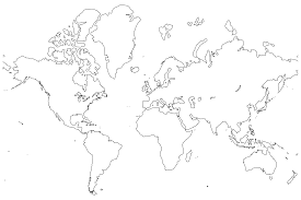 World Map India by Clipart World Map