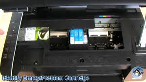 how to change ink cartridges with a epson stylus sx115 youtube