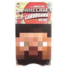 minecraft costume halloween city amazon com minecraft steve head costume mask toys u0026 games