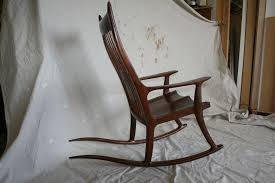 Rocking Chair Makers Custom Black Walnut Rocking Chair By Stoll Furniture And Design