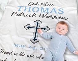 christening blanket personalized baptism blanket etsy