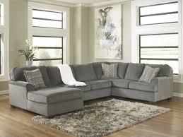 loric collection 12700 smoke sectional sofa grey sectional sofa