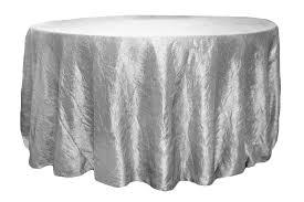 crushed taffeta 120 inch tablecloth silver at cv linens cv