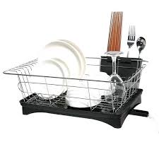 dish drainer for small side of sink in sink dish drainer sandralawson org