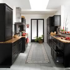 lapeyre cuisine bistrot cuisine bistro noir en bouleau massif lapeyre kitchens eclectic