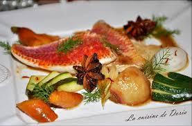 cuisiner rouget filets de rouget poêlés et ses légumes marinés au miel et balsamique
