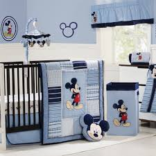 fancy blue mickey themed for your baby nursery room necessities