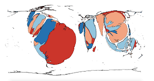 Cartogram Map Start Your Week With A Map