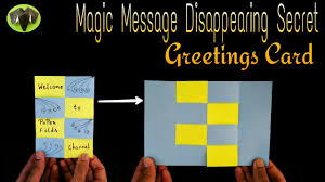 message disappearing secret magic card diy tutorial by paper
