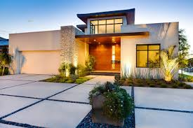 modern front yard home design of including driveway designs images