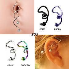 aliexpress belly rings images 4pieces twist spiral ear industrial piercing barbells belly button jpg