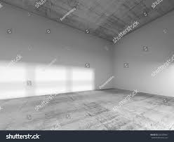 Concrete Ceiling Abstract Interior Empty Room White Painted Stock Illustration