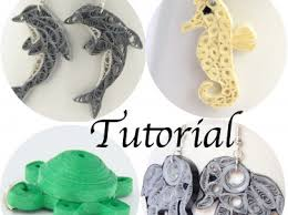 quilling designs tutorial pdf tutorial for paper quilled animal jewelry pdf dolphin elephant