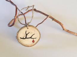 antler ornament wood slice ornament tree slice wedding charms