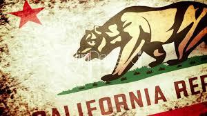 California State Flag California State Flag Waving Grunge Look Lizenzfreie Stock