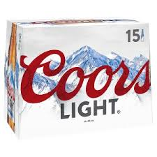 coors light sugar content coors light lager 15 x 330ml beer beer cider ales drinks