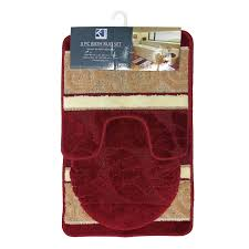 Bathroom Contour Rugs Scroll 3 Piece Bathroom Rug Set Bath Rug Contour Rug Lid Cover
