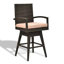 Outdoor Wicker Swivel Chair Outdoor Wicker Swivel Bar Stool Chair W Seat Cushion Outdoor