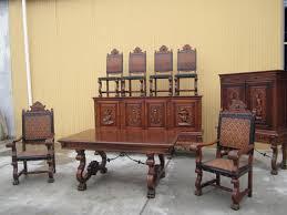 Oak Dining Room Sets Delightful Antique Dining Room Chairs Oak Ebay For Sale