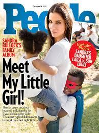 sandra bullock son sandra bullock adopts daughter laila people exclusive cover moms