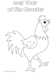 2017 chinese year of the rooster coloring pages for kids get