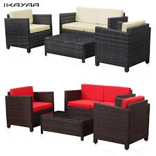 Rattan Patio Furniture Rattan Garden - aliexpress com buy ikayaa us stock wicker cushioned patio