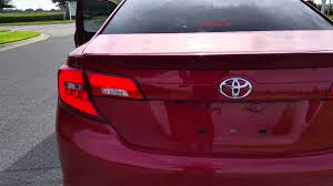 2015 toyota camry tail light 2012 14 toyota camry led taillights youtube