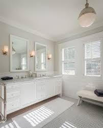 white cheval floor bathroom transitional with white tile