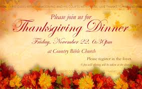 thanksgiving dinner country bible church