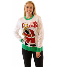 homer women u0027s the simpsons homer doh ho ho off white sweater