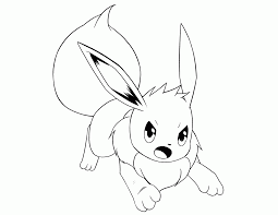 pokemon eevee coloring pages ba eevee pokemon coloring pages