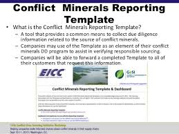 conflict minerals reporting template conflict minerals reporting template 6 professional and high