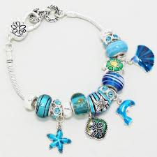 european style bracelet charms images Silver european style dolphin sealife charm bracelet JPG
