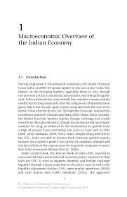 macroeconomic overview of the indian economy springer