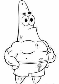 happy patrick in spongebob printable coloring pages for omeletta me
