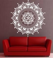 mandala pattern big wall decal vinyl art sticker yoga lotus