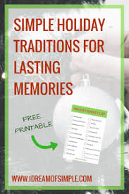 how to develop meaningful and stress free traditions i