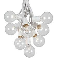 g50 patio string lights with 25 clear globe bulbs