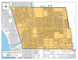 Sarasota Florida Map Newtown Community Redevelopment Agency Cra