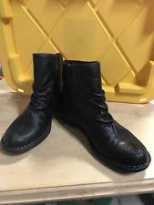 womens ankle boots size 9 wide clarks womens tamithacattura black scrunch leather 9 wide ebay