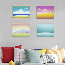 Kawaii Room Decor by Debonair New Piece Sea Plus Ship Big Size Wall Art Home Decor Set